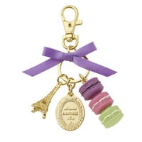 LADUREE Key Chain Macarons Effiel Tower Violet from Japan Best for Gift New