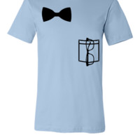 Nerd glasses, bow tie and pocket - Unisex T-shirt
