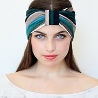 Very Cute   Turban Headband   made from knitted fabric  great accessory for your outfit