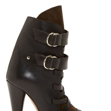Isabel Marant Black Leather And Suede Royston Heel Boots