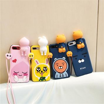 Kawaii 3D Cartoon Animal Phone Case