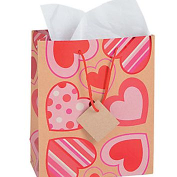 Medium Heart Pattern Gift Bags