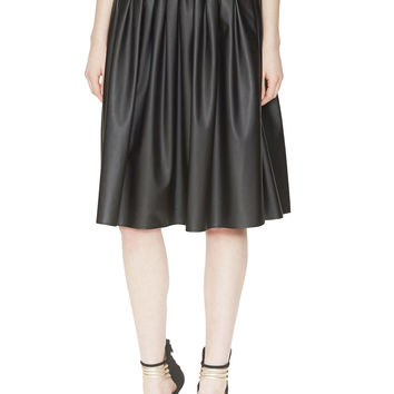 Tate Faux Leather Pleated Skirt