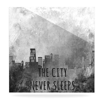 "Alison Coxon ""The City Never Sleeps"" Luxe Square Panel"