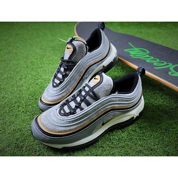 Nike Air Max 97 Ultra SE PRM Gray Wool Bullet Sport Shoes Sneaker 924452-001 - Sale