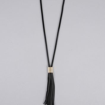 Armitage Avenue Black Tassel Necklace