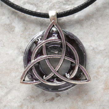 triquetra necklace: heather - mens jewelry - celtic jewelry - mens necklace - irish jewelry - boyfriend gift - unique gift - fathers day