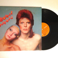 OCTOBER SALE David Bowie Pinups Vinyl Record 1973 Glam Rock Where Have All The Good Times Gone LP Album