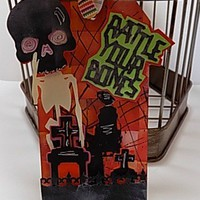 Rattle Your Bones Handmade Wine Bottle Gift Tag