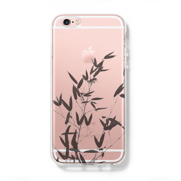Bamboo Tree iPhone 6 Case Clear Hard iPhone 6s Plus Case, Galaxy S6 Edge Case C030