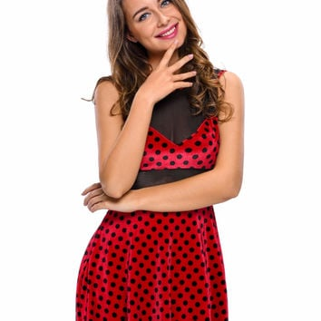 2016 Sexy Adult Cosplay 2pcs Polka Dot Mistress Mouse Costume Set Fancy Dress LC89029 Animal Costume with Headwear Club Party