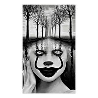 Wicked Clown River Abstract Original Art Poster