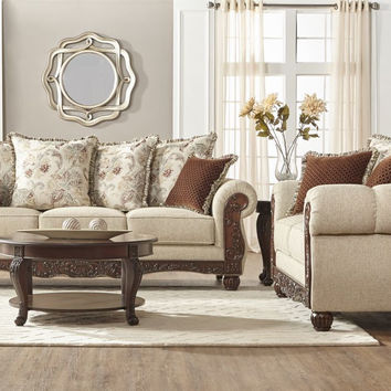 Malibu Canyon Moccasin Sofa and Loveseat