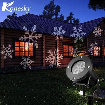 12 Types Christmas Laser Snowflake Projector Outdoor LED Lamp Waterproof Disco Lights Home Garden Star Light Indoor Decoration
