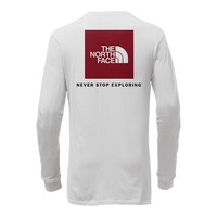 Men's Long Sleeve Red Box Tee in TNF White by The North Face