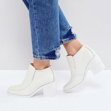 Intentionally Blank Henry White Ankle Boots at asos.com