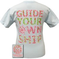 Girlie Girl Originals Guide Your Own Ship Comfort Colors Chambray Bright T Shirt