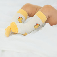 Stay Put Baby Socks - Yellow Duckies