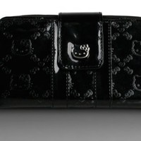 Hello Kitty Black Embossed Zipper Wallet