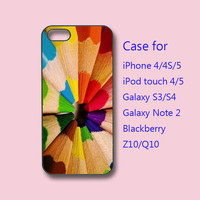 Colorful Pencil- iphone 4 case, iPhone 5 case,ipod 4 case, ipod 5 case,  samsung S3 case, samsung S4 case, galaxy note 2, blackberry Z10,Q10