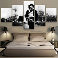 Unframed 5 Panel The Texas Chainsaw Massacre Modern Printed Paintings On Canvas Wall Art For Home Decorations Wall Decor