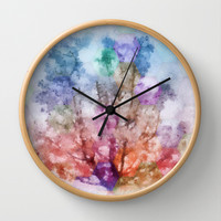 Independent tree  Wall Clock by Laura Santeler