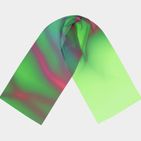Pink and Green Long Scarf