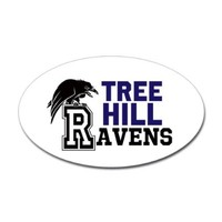 CafePress Tree Hill Ravens: Sticker Oval - 3x5 White