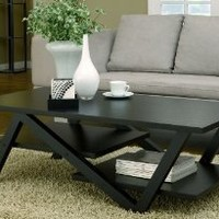 ioHOMES Finley Rectangular Coffee Table, Black