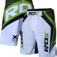 RDX Shorts MMA Men's Grappling Short White/Green