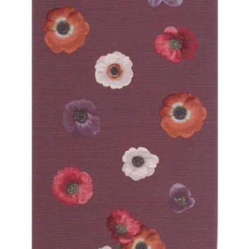 Anemones Purple  French Table Runner