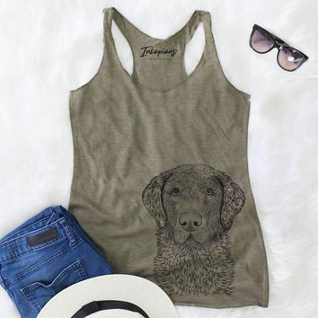 Whiskey the Chocolate Lab - Racerback Tank Top