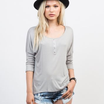 Lazy Sunday Henley Top