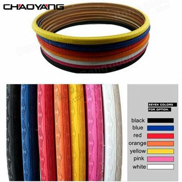 CHAOYANG Fixed Gear Bike Cover Tyre 700*23C Colorful Bicycle Tube Anti-Impale Multi-Color Smooth About 450g For Cyclists Parts