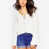 ASOS 70s Lace Front Top