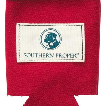Beer Sweater Can Holder in Red by Southern Proper - FINAL SALE