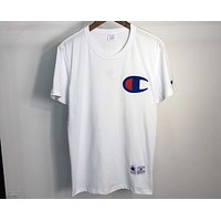 Champion Summer Embroidered Big C Couple Short Sleeve F-CN-CFPFGYS White