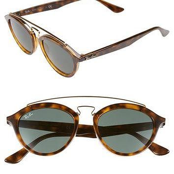 Ray-Ban 'Highstreet' 50mm Brow Bar Sunglasses | Nordstrom