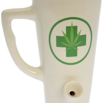Tall Wake & Bake Ceramic Coffee Mug