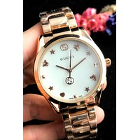 GUCCI new men and women models simple personality quartz watch #3