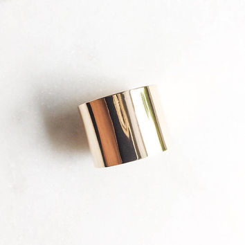 Kalia Ring - Gold Ring,Wide Band Ring,Simple Ring,Statement Ring,Gold Cigar Ring,Gold Cuff Ring,Gold Wide Ring,Smooth Ring,Hawaiian Jewelry