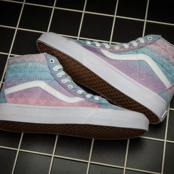 Vans SK8 HI Colorful Low Tops Flats Shoes Canvas Sneakers Sport Shoes For Women