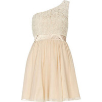 Cream little mistress rose detail dress
