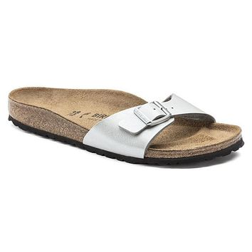 Birkenstock Madrid Birko Flor Graceful Silver 1009607 Sandals - Best Deal Online