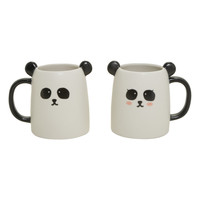 Panda Pair Ceramic Mug Set