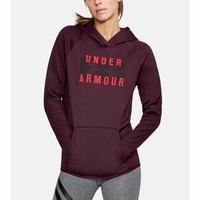 Under Armour UA Storm Armour Fleece Big Logo Hoodie 1313245 Raisin Red XS