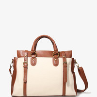 Buckled Canvas Satchel