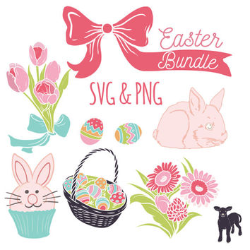 Easter SVG Bundle | SVG Cut Files | Silohuette Machine SVG Files | Cricut Cut Design Files | Easter Clip Art | Easter Illustrations