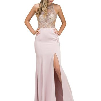 Sexy Fitted Prom Dress with Slit  DQ9974