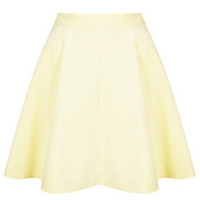 Lemon Baby Cord Skater Skirt - Skirts  - Clothing